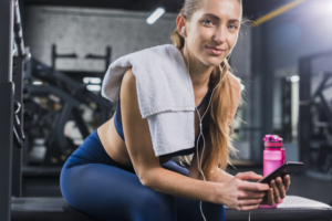 Using the phone in between workout
